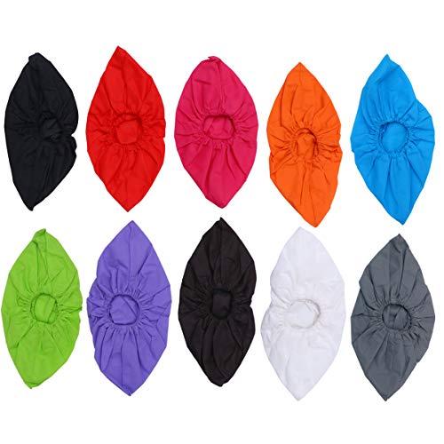 LUOEM Copriscarpe 10 Paia Copriscarpe Lavabili Riutilizzabili in Tessuto Non Tessuto Copriscarpe Antipolvere Copriscarpe Antiscivolo (Colore Casuale)