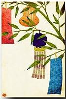 和風ポストカード 染絵風 「たなばた」 夏のイラスト 暑中見舞いにも 和道楽