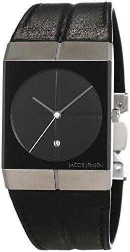 JACOB JENSEN Unisex-Armbanduhr JACOB JENSEN ICON Analog Quarz Leder JACOB JENSEN 230
