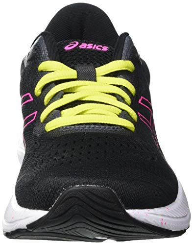 Asics Gel-Excite 8, Road Running Shoe Mujer, Black/Hot Pink, 40 EU