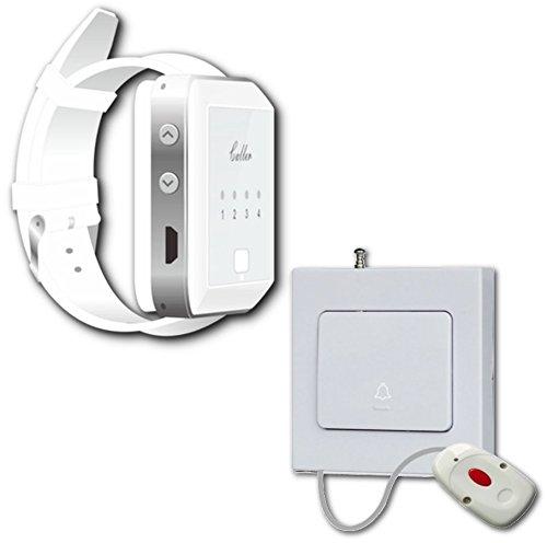 Schwesternruf, Pflegeruf System: Ruf Sender + Drahtloser Armbanduhr Ruf-Empfänger für Pflege, Kliniken, Praxen