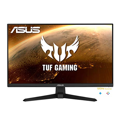 ASUS TUF Gaming VG249Q1A Gaming Monitor – 23.8 inch Full HD (1920 x 1080), Overclockable 165Hz(above 144Hz), Extreme Low Motion Blur™, FreeSync™ Premium, 1ms (MPRT), Shadow Boost