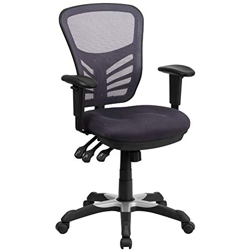 Flash Furniture Dark Gray Mid-Back Mesh Chair