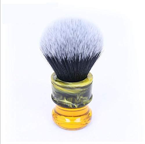 Mrjg Brush 24MM Noir Blanc synthétique Fibre Résine Poignée Hommes Rasage Brosses Shaving
