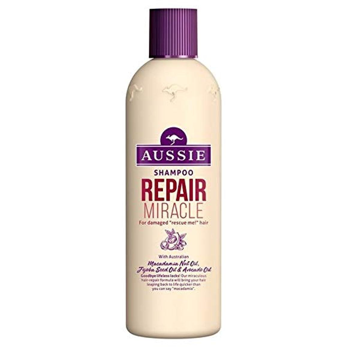 純粋な藤色コモランマ[Aussie ] いたずらな髪の300ミリリットルのすべての種類のオージーシャンプーの修理の奇跡 - Aussie Shampoo Repair Miracle for All Kinds of Naughty Hair 300ml [並行輸入品]