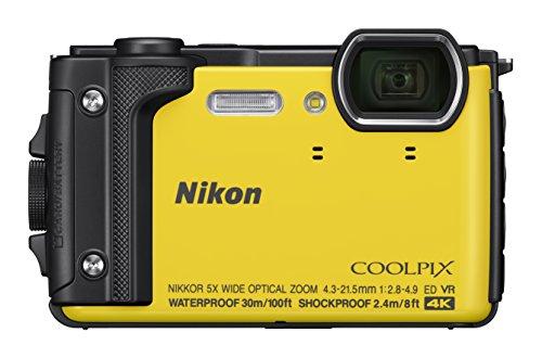 """Nikon COOLPIX W300 Cámara compacta 16 MP 1/2.3"""" CMOS 4608 x 3456 Pixeles Amarillo - Cámara Digital (16 MP, 4608 x 3456 Pixeles, CMOS, 5X, 4K Ultra HD, Amarillo)"""