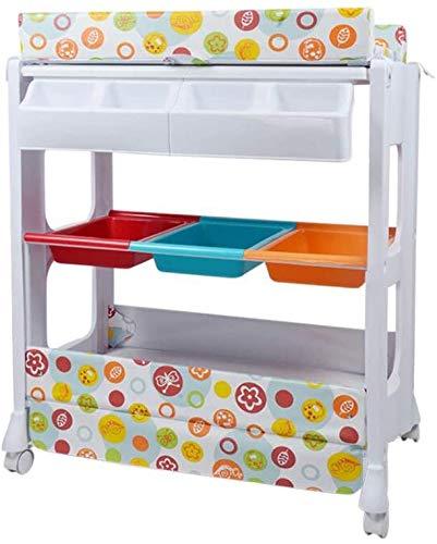 Baby-Kommode, Wickeltisch mit Badewanne und Regalen, Babypflege-Einheiten, Windeln, Babywindeln Platte, Babywindeln Storage Rack,A