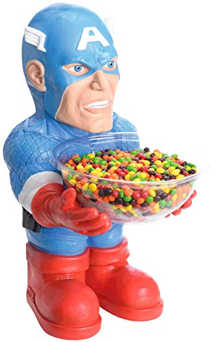 Rubie's-déguisement officiel - Marvel- Pot à bonbons Captain America 45 cm - Taille Unique- I-35673