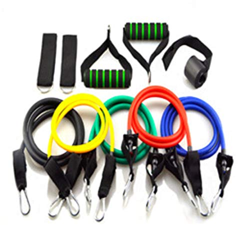 xiaoxi Resistance Bands 11pcs Set Tubes for Fitness Home Gym Exercise Workout Yoga Workout Gym Resistance Exercise Bands