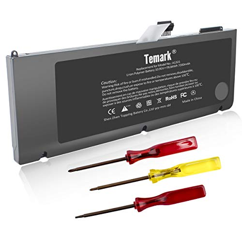 Temark New A1321 Laptop Battery for MacBook Pro 15 inch A1286 (only for 2009 2010 Version),fit MB985 MB986J/A MC118 MB986 020-6380-A 020-6766-B
