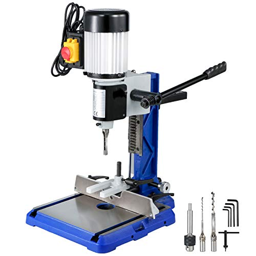 VEVOR Woodworking Mortise Machine 3/4 HP,Benchtop Mortising Machine with Heavy-Duty Cast-Iron Base, Bench Mortiser, for Making Round Holes Square Holes, or Special Square Holes in Wood