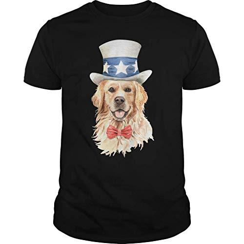 Rockboy Golden Retriever Disfraz Divertido Lindo Perro Camiseta L