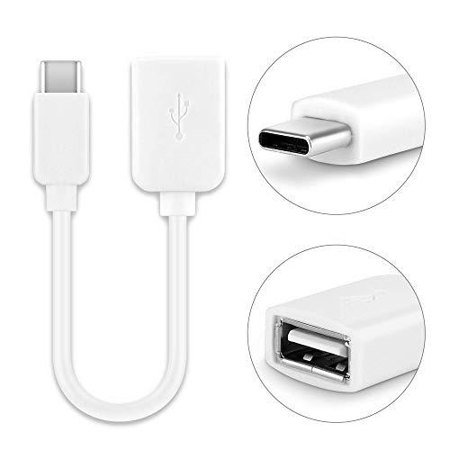 CELLONIC® USB OTG Kabel kompatibel mit Nintendo Switch OTG Adapter USB C Type C USB Host KabelPVC On The Go Adapter weiß OTG Stecker Anschluss
