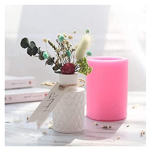 Raheem Moldes de Vela, moldes de Silicona, moldes 3D Resina concreto fundición Flor jarrón Molde de Silicona Flor urna Olla, para la fabricación de Joyas artesanales de Bricolaje (Color : Style1)