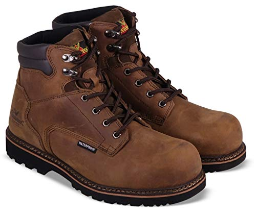 """Thorogood 804-3236 Men's V-Series 6"""" Waterproof, Composite Safety Toe Boot, Brown Crazyhorse - 10 M US"""