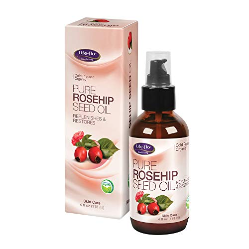 Life-Flo Pure Rosehip Seed Oil | Organic & Cold Pressed | Moisturizing Treatment for Facial & Skin Care | 4oz