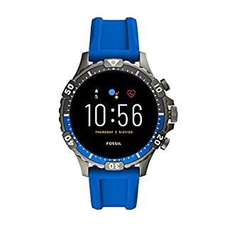 Fossil Gen 5 Garrett HR Heart Rate Stainless Steel Touchscreen Smartwatch, Color: Blue (Model: FTW4042) (B081HRD34V) | Amazon price tracker / tracking, Amazon price history charts, Amazon price watches, Amazon price drop alerts