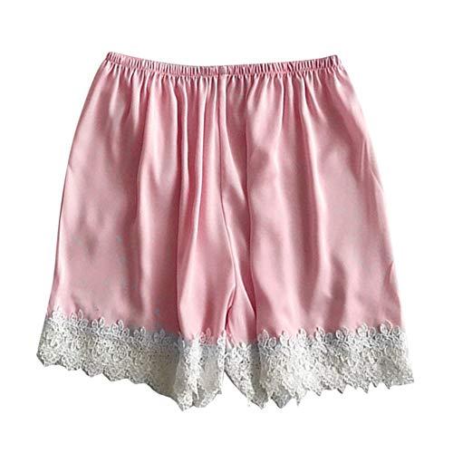 Handaxian Pijama de Encaje Corto para Mujer Nueva y cómoda, Casual, Color sólido, Ropa Casual 4 XL