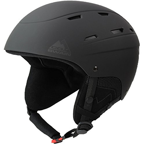Cox Swain Ski-/Snowboard Helm Dillen - mit Recco Lawinenreflektor, Colour: Black, Size: 59-62cm