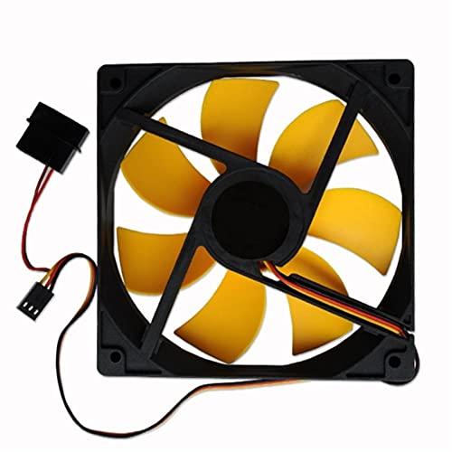 Ventilador de caja de PC, 1 unids 120 x 120 x 25 mm 120 mm 12 cm12V DC PC CPU Computadora 3pin Conector de 4pin CPU Fiásticos de calor del fregadero del refrigerador de la caja del refrigerador del re