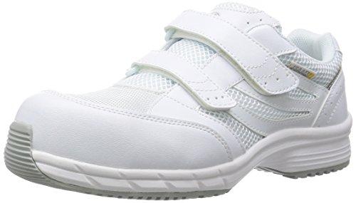 [ミドリ安全] 安全作業靴 JSAA認定 静電気帯電防止 耐滑 マジックタイプ プロスニーカー SLS705 静電 メンズ ホワイト 28.0 cm 3E