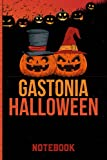 Gastonia Halloween Notebook: Halloween Gift Idea For Gastonia citizens Lined Diary Notebook or Journal Vintage Beautiful Cover