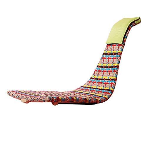 Lounge Chair Mecedora portátil Salón clásica Silla de Mimbre for Cualquier estación PE extraíble Almohada Retro tumbonas Campamento Playa sillones reclinables 2 Color (Color : B, Size : 60x37x61cm)