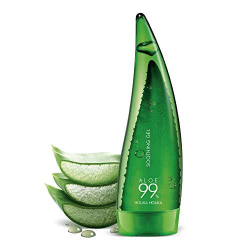 """""""K-Beauty"""" Holika Holika Aloe Gel Apaisant à 99% avec 99% de jus de feuilles d'aloès de l'île vierge de Jeju (250ml / 8.45oz)"""