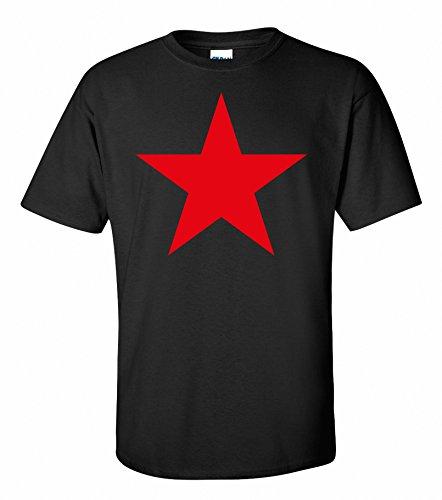 T-Shirt Stern der Revolution Viva la Revolucion Roter Druck S-XXXXL, Schwarz, X-Large