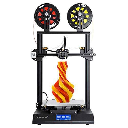 HZYYZH Imprimante 3D, Peut être utilisée en Deux Couleurs ou Deux matériaux, écran Tactile Couleur de 4,3 Pouces, Format d'impression 300X300x400mm