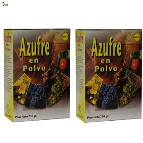 BricoLoco Azufre en Polvo espolvoreo. Anti oídio Plantas. Abono, Fertilizante, fungicida acaricida contra Hongos en Vid, Olivo, cítricos, hortalizas, Rosales y Ornamentales. 750 Gramos. (2)