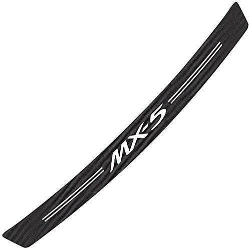 Carbon Fiber Car Trunk Protection Plate for Mazda Mx-5,Anti-Scratch Durable Bumper Trunk Guard Sill Strip Scuff Protector,Car Styling Accessories