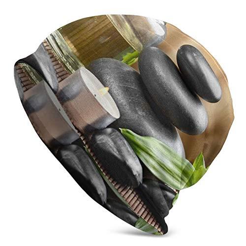 GARDE ART STUDIO Running Cooling Asian Zen Massage Stone Triplets with Herbal Oil and Scent Candles Skull Cap/Beanie Cap/Helmet Liner/Dew Rag/Chemo Cap/Bald Cap for Men and Women Hat Liner