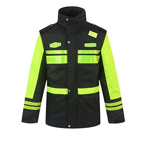 Winterjas Reflecterende Katoenen veiligheidsvest Werkkleding Man dikke katoenen jas Traffic Safety katoenen kleding Fluorescent Yellow Kleren van de Winter XMJ (Size : 3XL)