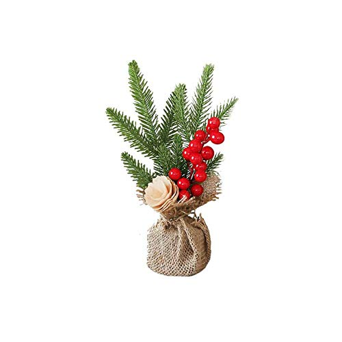 Mini Christmas Tree, Small Decorated Christmas Tree, Mini Miniature Model Tree for Home, 25 x 10 cm