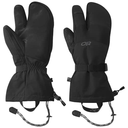 Outdoor Research Men's Highcamp 3-Finger Gloves – Water & Windproof Glove with Touch-Screen Compatibility