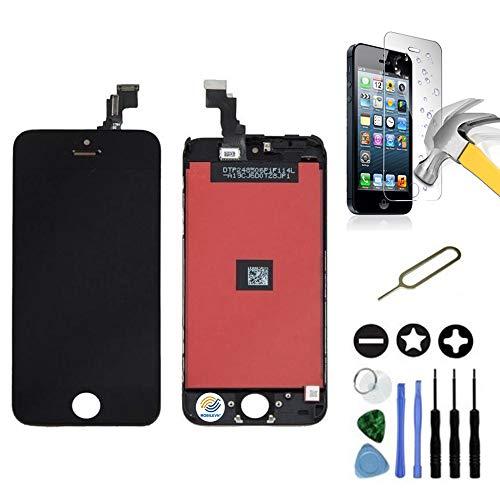 Mobilevie Ecran LCD Retina + Vitre Tactile sur châssis pour Iphone 5C Noir + Outils