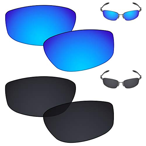 Galvanic Replacement Lenses for Oakley Blender OO4059 Sunglasses - Ice + Black Polarized - Combo Pack