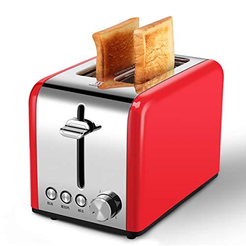 EODPOT Frühstücksmaschine, Toaster, mit Nachheiz-, Auftau- und Löschfunktionen, Edelstahl (rot)