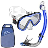 Superior Snorkel Set for Women and Men with Adjustable Dual Strap - Enjoy Swimming, Snorkeling and Scuba Diving with Anti-Fog Tempered Glass Mask & No Leaks Dry Top Snorkel with Silicon Mouth Piece