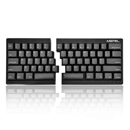 Mistel MD600 Split Mechanical Keyboard with Cherry MX Blue Switch for Windows and Mac (Programable Ergonomic Keyboard, Black PBT Keycap/Case, Macro, NKRO, ASIN/US QWERTY)