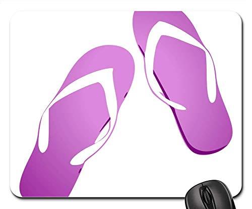 N\A Alfombrilla para ratón - Chanclas Chanclas Sandalias Purple Beach Summer