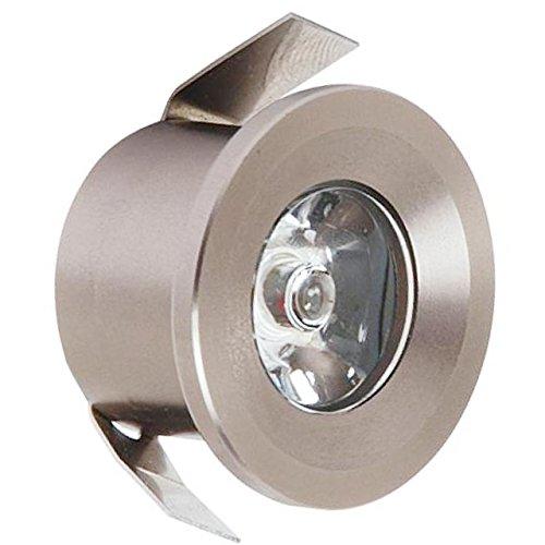 Preisvergleich Produktbild Mini LED Einbaustrahler Einbauleuchte einbauspot 1 Watt / matt Chrom Neutralweiß / inkl. Trafo 230 Volt