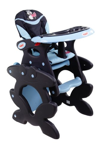 Chaise haute de bébé pour enfants ARTI Betty J-D008 Dark Blue Panda Chaise haute Set - chaise et une table
