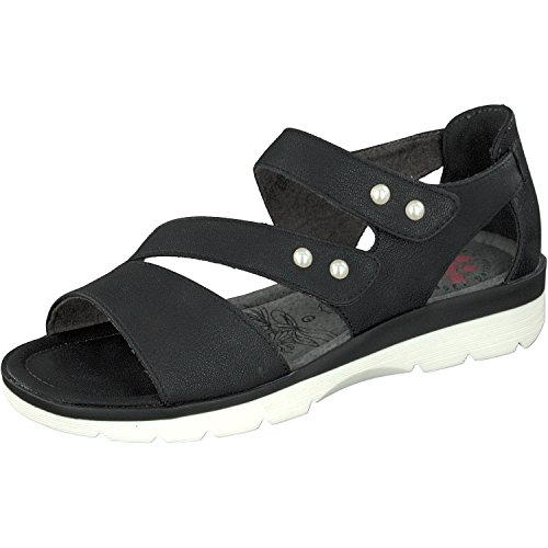 Relife Damen Römer Sandalen Schuhe mit Klett 8717-17702-12 in 3 Farben (37, Black)