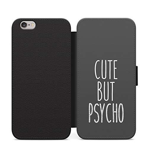 Simple lindo pero psycho niñas cuero cartera teléfono caso y cubierta para Huawei Y7 2019