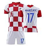GLJJQMY Camiseta de los Hombres de Croacia Copa del Mundo Jersey Ropa Deportiva Pantalones Cortos de Manga Corta Traje de Entrenamiento de fútbol Camiseta de Baloncesto (Color : J, Size : X-Large)
