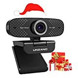 Webcam with Microphone for Desktop,UNZANO Full HD 1080P Streaming Webcam USB Computer Webcam,Web Camera for Computer PC Mac,Web Cam for Zoom Meeting FaceTime Conferencing