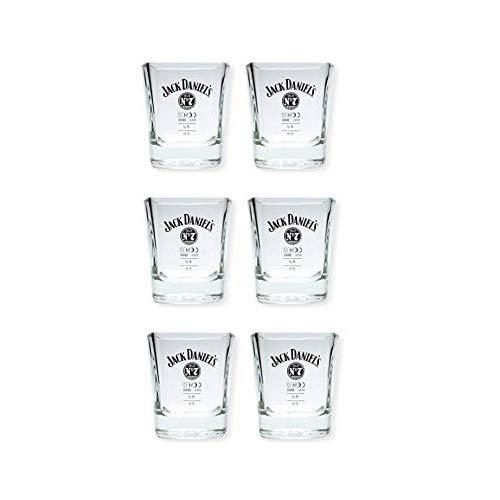 JACK DANIELS > 6 Stück < Original Whisky Becher Glas Tumbler 2cl / 4cl > > neues Model < <