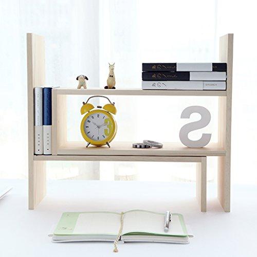 HYLR japanisch-Art DIY kreativ Woody Desktop kleine Bücherregale Ablage Rack Buch Regal, Speicher Schreibtisch Organizer Datei Regale Massivholz Book Holder Storage Book Rack Bookshelf